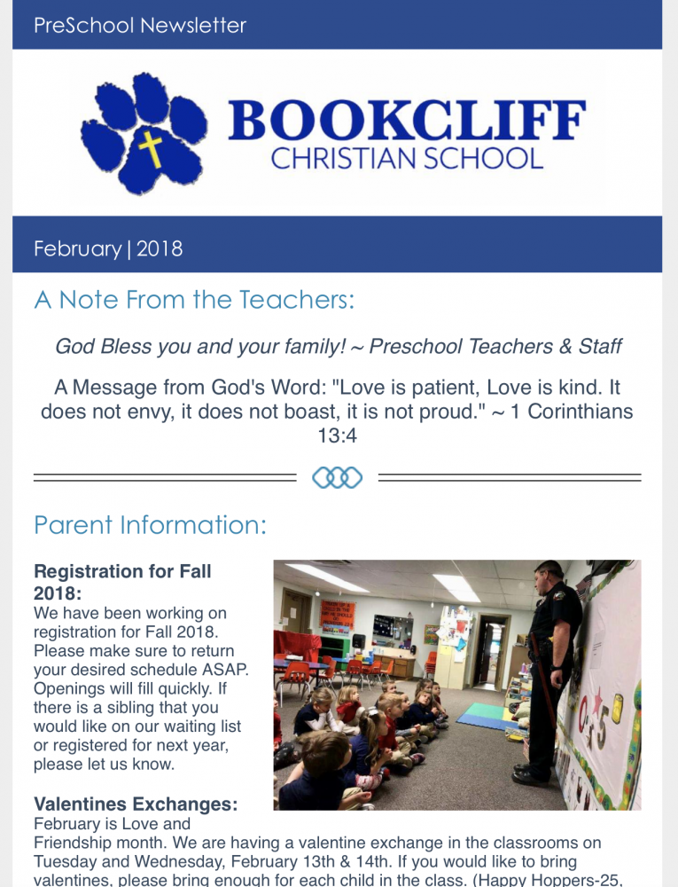 february preschool newsletter