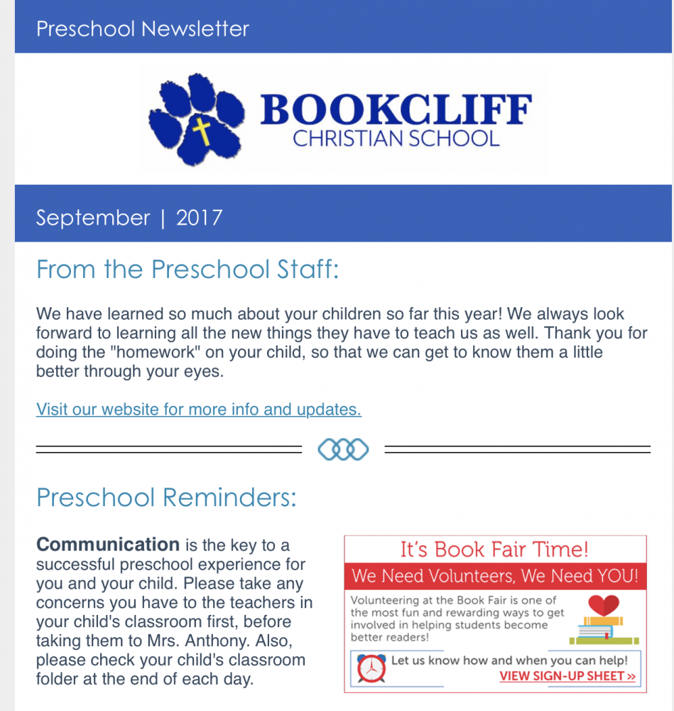 preschool enews